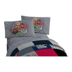 Jay Franco and Sons - Disney Muppets Vintage Silhouettes 3pc Twin Bed Sheet Set - FEATURES: