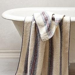 "Morihata - Forty Stripe Towel - By MorihataCottonMachine washWashcloth: 14"" squareHand towel: 32""L, 14""WBath towel: 50""L, 27""WJapan"