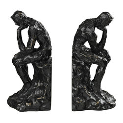 Sterling - Sterling 87-8009 Thinking Man Book Ends - Sterling 87-8009 Thinking Man Book Ends