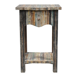 Kosas Collections - Soli One-Drawer Reclaimed Wood Table - This unique one-drawer table is made of reclaimed wood in its natural finish. This piece is a functional and stylish addition to any modern decor.