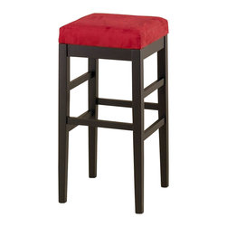 "Armen Living - Armen Living Sonata 30"" High Square Micro Fiber Backless Bar Stool-Red - Armen Living - Bar Stools - LCSTBAMFRE30 - Microfiber backless 30 inches barstool with an ebony finished wood frame. 1.8 density foam. Armen Living is the quintessential modern-day furniture designer and manufacturer. with flexibility and speed to market, Armen Living exceeds the customer�s expectations at every level of interaction. Armen Living not only delivers sensational products of exceptional quality, but also offers extraordinarily powerful reliability and capability only limited by the imagination. Our client relationships are fully supported and sustained by a stellar name, legendary history, and enduring reputation. The groundbreaking new Armen Living line represents a refreshingly innovative creative collaboration with top designers in the home furnishings industry. The result is a uniquely modern collection gorgeously enhanced by sophisticated retro aesthetics. Armen Living celebrates bold individuality, vibrant youthfulness, sensual refinement, and expert craftsmanship at fiscally sensible price points. Each piece conveys pleasure and exudes self expression while resonating with the contemporary chic lifestyle."