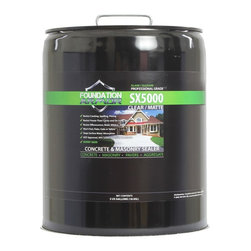 Foundation Armor - SX5000 DOT Silane Siloxane Concrete, Brick, Masonry Water Repellent Sealer, Clea - The Armor SX5000 is a high solids, Department of Transportation approved, solvent-based Silane-Siloxane water repellent and impregnating sealer for porous concrete and masonry surfaces. The Armor SX5000 will penetrate and chemically bond deep within the substrate to provide long lasting protection against deterioration or staining due to water absorption. The Armor SX5000 will not impair the natural breathing characteristics of treated substrates, nor will it produce a film or coating. The Armor SX5000 will help concrete and masonry surfaces to resist common issues such as cracking, efflorescence, spalling, staining, and other damages caused by intrusion of water. The Armor SX5000 will also help to reduce the formation of efflorescence and the growth of mold and mildew.