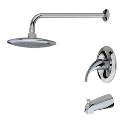 MR Direct - MR Direct 750 Three Piece Rain Head Shower Set, Chrome - The 750 3-Piece Rain Head Shower Set is an ADA approved shower set that is available in a brushed nickel, oil-rubbed bronze or chrome finish. This set has a limited temperature stop that prevents scalding when there is a change in water pressure. The 750 is pressure tested to ensure proper working conditions and is covered under a lifetime warranty. The rainfall spray head will create a relaxing experience that you will look forward to enjoying daily.