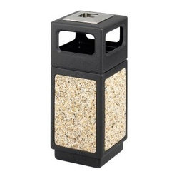Safco 15 Gallon Canmeleon Aggregate Panel Ash Urn/Side Open - Black - About Safco ProductsSafco products were specifically developed to meet the changing needs of the business world, offering real design without great expense. Each product is designed to fit the needs of individuals and the way they work, by enhancing comfort and meeting the modern needs of organization in the workplace. These products encourage work-area efficiency and ultimately, work-life efficiency: from schools and universities, to hospitals and clinics, from small offices and businesses to corporations and large institutions, airports, restaurants, and malls. Safco continues to offer new colors, new styles, and new solutions according to market trends and the ever-changing needs of business life.