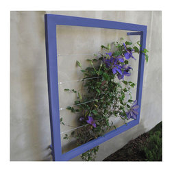 TerraTrellis - Ina Wall Trellis Jr. - Looking for some funky outdoor decor with super chic cache? A hand-welded trellis frame to feature your favorite climbing plant is modern-garden design genius. Jasmine, honeysuckle or wisteria, give your creeping vines a framework and watch them blossom!