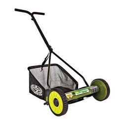 "Snow Joe - 16 Inch Manual Reel Mower - Sun Joe Mow Joe 16"" Manual Reel Mower with Catcher for small to medium lawns 16"" Cutting Width, Tailor cutting heights up to 1.81"" deep 4 steel blades, 6.6 gallon Grass Catcher Capacity 4-position manual height adjustment. Compact design and easy to assemble. Comfortable foam grip. Weight: 22 pounds."