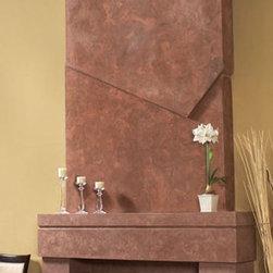 """Soho stone fireplace overmantel - """"omega cast stone fireplace mantle"""""""