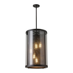 Murray Feiss - Murray Feiss Bluffton Transitional Outdoor Hanging Light X-BRO41021LO - Inspired by mountain luxe trends, the transitional Bluffton Collection has a perforated screen shade much like that of a cozy fireplace&#8212:with decorative hooks and rods adding to the unique, rustic details. Using antique-style bulbs furthers the warm and inviting look.