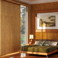 Contemporary Vertical Blinds by Home Source Custom Draperies & Blinds