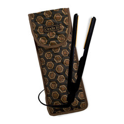 cinda b - cinda b Flat Iron/ Curling Iron Cover, Mod Tortoise - No need to wait around for a hot iron to cool down when you're packing in a hurry. Our cinda b Mod Tortoise Flat Iron/ Curling Iron Covers's heat-resistant lining makes it a safe bet. And it's sized to fit most of today's hair appliances and stow their cords neatly. This is the perfect accessory for your travel bags.