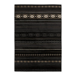 "Surya - Surya Paramount PAR-1047 (Coal Black, Safari Tan) 7'9"" x 11'2"" Rug - Surya's Paramount Collection offers a wide range of styles at an affordable price. Constructed from 100% polypropylene these rugs are durable as well as beautiful. Patterns range from traditional to contemporary with colors to match and decor."