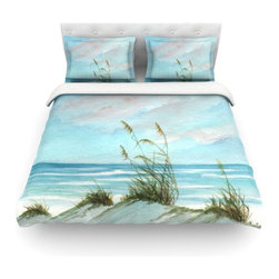 """Kess InHouse - Rosie Brown """"Sea Oats"""" Cotton Duvet Cover (Twin, 68"""" x 88"""") - Rest in comfort among this artistically inclined cotton blend duvet cover. This duvet cover is as light as a feather! You will be sure to be the envy of all of your guests with this aesthetically pleasing duvet. We highly recommend washing this as many times as you like as this material will not fade or lose comfort. Cotton blended, this duvet cover is not only beautiful and artistic but can be used year round with a duvet insert! Add our cotton shams to make your bed complete and looking stylish and artistic! Pillowcases not included."""