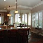 The Louver Shop - Kitchen Shutters - Arched kitchen plantation shutters