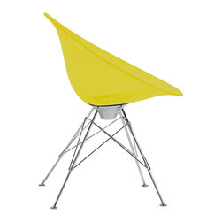 Kartell - Eros Chair, Legs, Transparent Yellow - Designed by Philippe Starck.