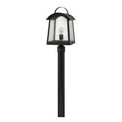 Hinkley Lighting - Hinkley Lighting 2651BK Putney Bridge 1 Light Post Lights & Accessories in Black - Putney Bridge is a classic Shaker-inspired style constructed of durable solid aluminum. The generous panels of dense seedy glass, forged metal roof and classic rivet construction combine with a bold Black finish to complete this authentic design.