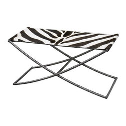 Faux Zebra Hadley Bench by Oly - Add some sophisticated regency style to any room in your house with this zebra print bench by Oly.