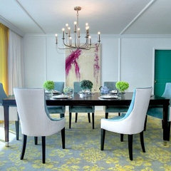 eclectic dining room by DKOR Interiors Inc.- Interior Designers Miami, FL