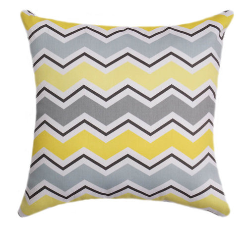 Land of Pillows - Waverly Cutting Edge Zig Zag Chevron Stripe Decorative Throw Pillow, 20x20 - Fabric Designer - Waverly