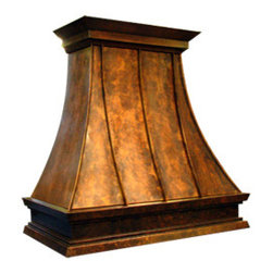 "Texas Lightsmith Custom Kitchen Range Hood #34 - List price - body only; 36""W x 36""H x 24""D, custom sizes & inserts available from Texas Lightsmith"