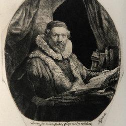 Rembrandt van Rijn, Portrait de Jean Wtenbogardus (B279), Heliogravure - Artist:  Rembrandt van Rijn, After by Amand Durand, Dutch (1606 - 1669)