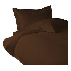 """400 TC 15"""" Deep Pocket Fitted Sheet with 2 Pillowcases Chocolate, Cal-Queen - You are buying 1 Fitted Sheet(60 x 84 inches) and 2 Standard Size Pillowcases (20 x 30 inches) only."""