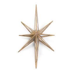 "Antique Gold ""Twinkle"" Star - Take a walk in the galleries of ancient Europe and cherish their rich art and culture by adorning this stupendous Antique Gold ""Twinkle"" Star in your home. This French country chic collection decorative has been crafted with intricate detailing from the finest quality material to ensure this masterpiece stays there forever."