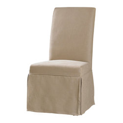 Hooker Furniture - Hooker Furniture Set of 2 Sanctuary Clarice Hemp Skirted Chair 200-36-072 - Pursue serenity at home... Create your own personal sanctuary, a special place where you can experience... comfort within.