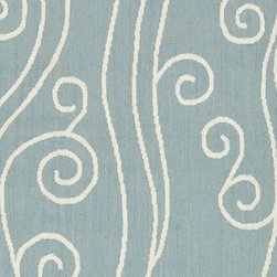 """Surya - Contemporary Boardwalk Hallway Runner 2'6""""x8' Runner Powder Blue, White Area Rug - The Boardwalk area rug Collection offers an affordable assortment of Contemporary stylings. Boardwalk features a blend of natural Blue, White color. Handmade of 100% Wool the Boardwalk Collection is an intriguing compliment to any decor."""