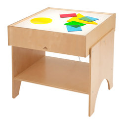 """Whitneybrothers - Whitney Brothers Kids' Learning Shapes and Colors Light Table - A best seller that features new, improved lighting. New LED lighting system displays brighter, whiter and more uniformly distributed light, uses less electricity, and produces less heat. Theyre even waterproof. Illuminated surface is great for learning about shapes and colors. The LED lights are UL listed in USA and Canada and guaranteed to last for 50,000 hours. Dimension: 24"""" x24"""" x24"""". 44 lbs. Purchase WB7724 Color Acrylic Disks separately. GreenGuard Certified. Made in the USA. Lifetime warranty."""