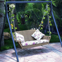 TOSH Furniture - Brown Wicker Hammock Sofa - TOS-GW0061SD - UV and weather resistance