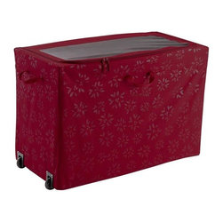 Home Decorators Collection - All-Purpose Rolling Storage Bin - Our All-Purpose Rolling Storage Bin with a collapsible frame stores an endless variety of decorations including inflatables. The bin has an easy-view window lid with dual zippers and convenient rear wheels for effortless transport. Keep your holiday decor all in one convenient place. Four interior stash pockets and one zippered pocket. Wire frame collapses for easy packing and storage. Convenient handles on all four sides. Clear ID sleeve.