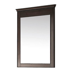 "Avanity - Windsor 24"" Mirror - Walnut - The Windsor 24 in. X 34 in. poplar framed mirror features a walnut finish with simple lines. It matches the Windsor vanities for a coordinated look and includes mounting hardware that makes leveling easy. The mirror can be hanged vertically.; Birch solid wood in Walnut finish; Beveled mirror; Hangs Vertical; Wood cleat at back for easy hanging; Dimensions:24""W x 1.9""D x 34""H"