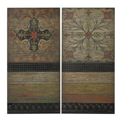Sterling Industries - 26-8681/S2 Brichell-Handpainted Spanish Tiles On Wooden Panel - Wall Panel (2)