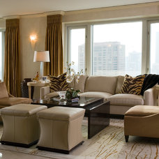 Eclectic Family Room by Cheryl D & Company