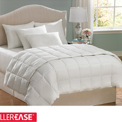 AllerEase - AllerEase Hot Water Washable Full/ Queen-size Hypoallergenic Comforter - This brilliant white hypoallergenic comforter allows allergy sufferers a welcome, comfortable sleep while providing protection from household allergens. The comforter also offers hot water washability to completely kill germs and bacteria.