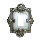 Hickory Manor House - Florentine Single Dimmer Switch Plate in Gilt - Vintage original. Custom made by artisans unfortunately no returns allowed. Enhance your decor with this graceful switch plate. Made in the USA. Made of pecan shell resin. Weight: 1 lb.