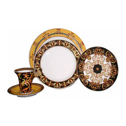 Versace - Versace Barocco Dinner Plate - Versace Barocco Dinner Plate   ***   Since the late 1970s the Versace brand has been synonymous with Italian luxury. For over 30 years their products have been known for uncompromising design as well as their sensual style and peerless craftsmanship. Many of our Versace Italian dinnerware sets are adorned with the famous medusa logo and offer a touch of Italian fashion and luxury to any meal. Shop our selection today to find a new porcelain dinner service that's sure to impress even the most persnickety guest.