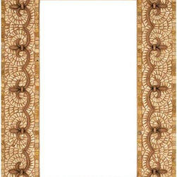 Landmark Metalcoat - Landmark Metalcoat Mosaic Mirror Frame Renaissance, Brass Highlight Polish - All Landmark Metalcoat products are made to order. lead time 3 -5 weeks. Proudly made in the USA. Mesh mounted for easy installation.