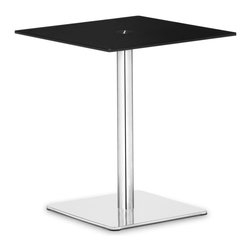 Zuo Modern - Zuo Modern Dimensional Modern Pub Table X-431106 - The understated elegance of the Dimensional table series makes it suitable for any application. Made from a tempered painted glass top and a chrome and stainless steel base.