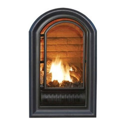 Hearth Sense - Hearth Sense A-Series Vent-Free Fireplace Insert in Black Finish (Natural Gas) - Choose Fuel Type: Natural Gas. Arched & vent free insert. Zero-clearance insert. BTUs: 10,000 - 20,000. 50% Turndown for greater control. ANSI compliance: ANSIZ21.11.2b-2004. Made of iron. Warranty: Limited lifetime & 1 year for labor allowance. 21 in. W x 14.5 in. D x 33 in. H