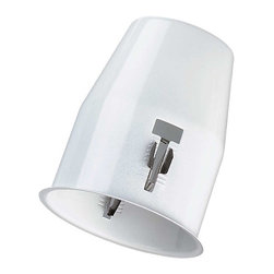 Renovators Supply - Ceiling Lights White Metal Flush Cannister for Spot Ceiling Light - Canister ready to mount to your junction box.  Also includes 4-steel brackets for mounting to your beams.