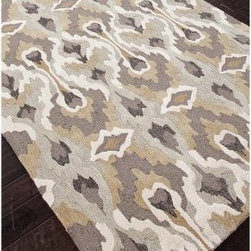 Jaipur Brio Chapan Transitional Tribal Pattern Polyester Tufted Rug - About Jaipur RugsOne of the leading providers of hand-woven rugs from India, Jaipur Rugs opened their United States-based plant in Atlanta in 1998. Founded on the ideals of visionary N.K. Chaudhary, a rug maker with over 30 years' experience, Jaipur features a team of over 30 designers and 40,000 skilled rug makers, all of whom carry out the company's original dream of making high-quality, outstanding rugs based on ancient traditions. Jaipur makes flat-woven, hand-tufted, and hand-knotted rugs that incorporate cutting-edge technologies and designs, and real handspun fibers to bring you the ultimate in true Indian craftsmanship.