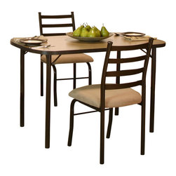 Cramco - Cramco Rollo Beige Linen Laminate Dining Table - Features: