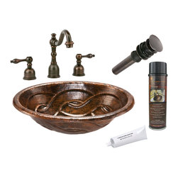 Premier Copper Products - Oval Braid Self Rimming Sink w/ ORB Faucet - PACKAGE INCLUDES: