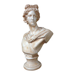 Casa de Arti - Classic Sculpture Of Apollo Bust Famous Reproduction Large Decor Statue Art - Beautiful sculpture of Apollo perfect for your home or office decor at an amazing price!