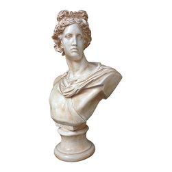 Casa de Arti - Classic Sculpture Of Apollo Bust Famous Reproduction Large Decor Statue Art - Beautiful sculpture of Apollo perfect for your home or office decor at an amazing price!