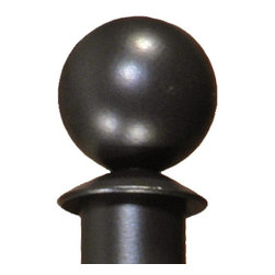 Stone County Ironworks - Sphere Curtain Finial (Hand Rubbed Ivory) - Finish: Hand Rubbed Ivory. Made from iron. Weight: 2 lbs.