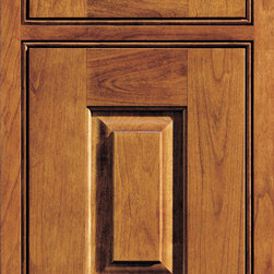 """Dura Supreme Cabinetry - Dura Supreme Cabinetry Nob Hill Inset Cabinet Door Style - Dura Supreme Cabinetry """"Nob Hill"""" inset cabinet door style in Cherry shown with Dura Supreme's """"Mission"""" finish with concealed inset hinge. (With beaded frame)"""