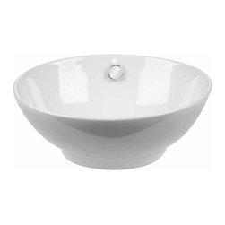 Renovators Supply - Vessel Sinks White Watts Vitreous China Vessel Sink 16 1/2'' Dia | 13480 - Vessel Sinks Above Counter: Made of Grade A vitreous China these sinks endure daily wear and tear. Our protective RENO-GLOSS finish resists common household stains and makes it an EASY CLEAN wipe-off surface. Ergonomic and elegant easy reach design reduces daily strain placed on your body. SPACE-SAVING design maximizes limited bathroom space. Easy, above counter installation let's you select from many faucet styles and countertop designs, sold separately. Measures 16 1/2 inch diameter