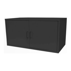 Foremost - Modular Large 2 Door Cube Black - Our modular PVC laminate veneer black large cube with double door is an amazing storage solution. Put away your items behind closing swing doors. Sturdy and stackable for maximum durability. Holds up to 200 pounds per assembled unit. Hollow-core construction makes the cube weigh 50% less then traditional particle board. Unlimited combination options so you can create exactly the system you need.